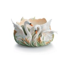 "Swan Lake 13"" Serving Bowl"