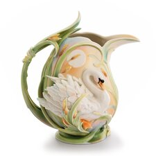 <strong>Franz Collection</strong> Swan Lake Swan Porcelain Pitcher