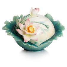 Peaceful Lotus Sugar Bowl with Lid