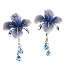 Iris Flower Earrings