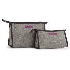 Lita 2 Piece Nesting Cosmetic Bag Set