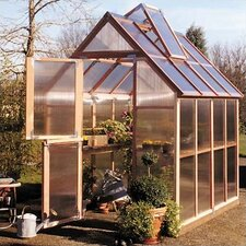 "Mt. Hood 8' 4"" H x 6.0' W x 8.0' D Polycarbonate 4.5 mm GardenHouse"