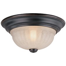 Richland  Flush Mount Light in Satin Nickel