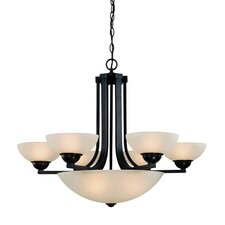 Fireside 9 Light Bowl Chandelier