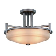 <strong>Dolan Designs</strong> Cortona 3 Light Semi Flush Mount