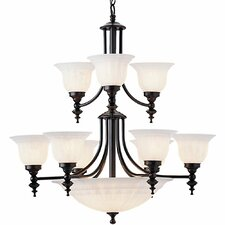 Richland 14 Light Bowl Chandelier