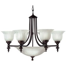 Richland 9 Light Bowl Chandelier