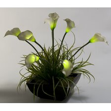 Lighted Calla Lilies Floor Plant in Planter