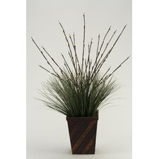 <strong>D & W Silks</strong> Lighted Willow Floor Plant in Planter