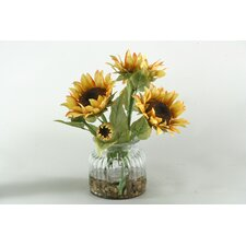 Sunflowers in Glass Vase