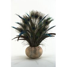 Feathers in Ceramic Ball Planter