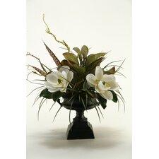 Magnolias in Pedestal Urn