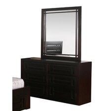 Quil 6 Drawer Dresser in Dark Chocolate