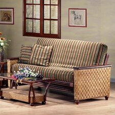 <strong>Night & Day Furniture</strong> Rattan Floral Magnolia Futon Frame