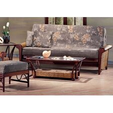 <strong>Night & Day Furniture</strong> Rattan Floral Rosebud Futon Frame
