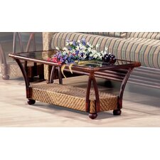 Rattan Floral Tulip Coffee Table