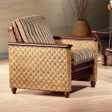 <strong>Night & Day Furniture</strong> Rattan Floral Magnolia Futon Chair Frame