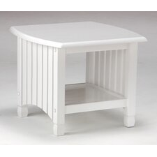 <strong>Night & Day Furniture</strong> Keywest End Table in White