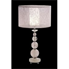 Rock Table Lamp in White