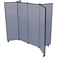 6 Panel Mobile Display Tower Bulletin Board