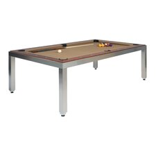 Stainless Steel 7' Convertible Pool Table
