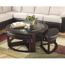 Machias Coffee Table with Stools