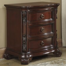 Martanny 3 Drawer Nightstand