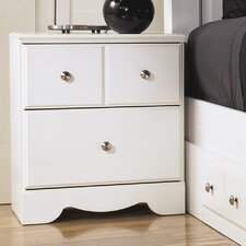 Weeki 2 Drawer Nightstand