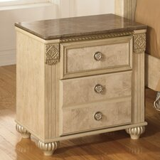 Saveaha 2 Drawer Nightstand
