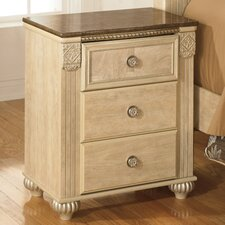 Saveaha 3 Drawer Nightstand