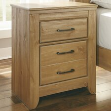 Drogan 2 Drawer Nightstand