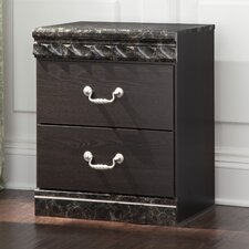 Vachel 2 Drawer Nightstand