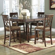 Leahlyn Counter Height 5 Piece Dining Set