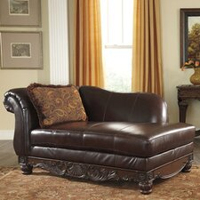 North Shore Plus Leather Chaise Lounge