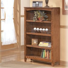 Cross Island Medium Bookcase in Medium Brown Oak