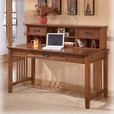 Cross Island Large Computer Desk with Hutch