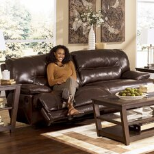 <strong>Signature Design by Ashley</strong> Venice Leather Reclining Sofa