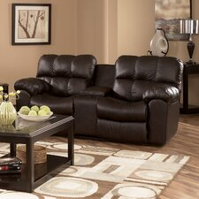Valley Leather Reclining Loveseat