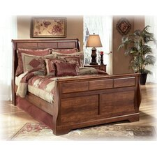 Timberline Sleigh Bed Rails in Brown Cherry