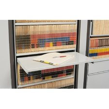 ARC Rotary File Pull-Out Reference Desk Shelf