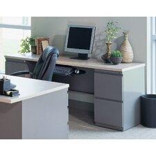 Credenza Desk with 2 Pedestals