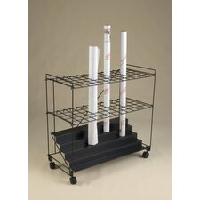 "32"" 60 Compartment Roll File Cart"