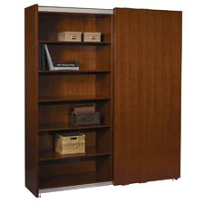 "Sorrento 82"" Bookcase with Sliding Door"