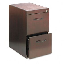 <strong>Mayline Group</strong> File/File Pedestal For Desk, 15W x 24D x 27H, Mahogany
