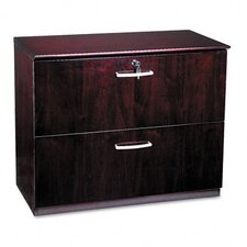 Napoli Two-Drawer Lateral File, 36W x 19D x 29-1/2H, MY