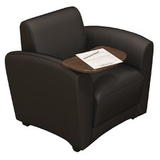 Santa Cruz Leather Mobile Lounge Chair with Tablet