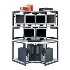"<strong>Mayline Group</strong> e*LAN Computer Racking Systems: 48"" W Corner LAN Station"