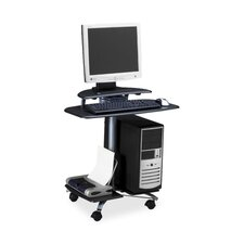 "<strong>Mayline Group</strong> Computer Workstation, Mobile, 28-1/2""x26""x29-1/2"", Charcoal Black"