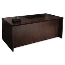 <strong>Mayline Group</strong> Mira Series Wood Veneer Straight Front Executive Desk