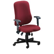Comfort Contoured High-Back Office Chair with Arms